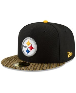 New Era Boys  Pittsburgh Steelers Sideline 59FIFTY Fitted Cap - Black Yellow  6 5 8 0ede5fbcf23