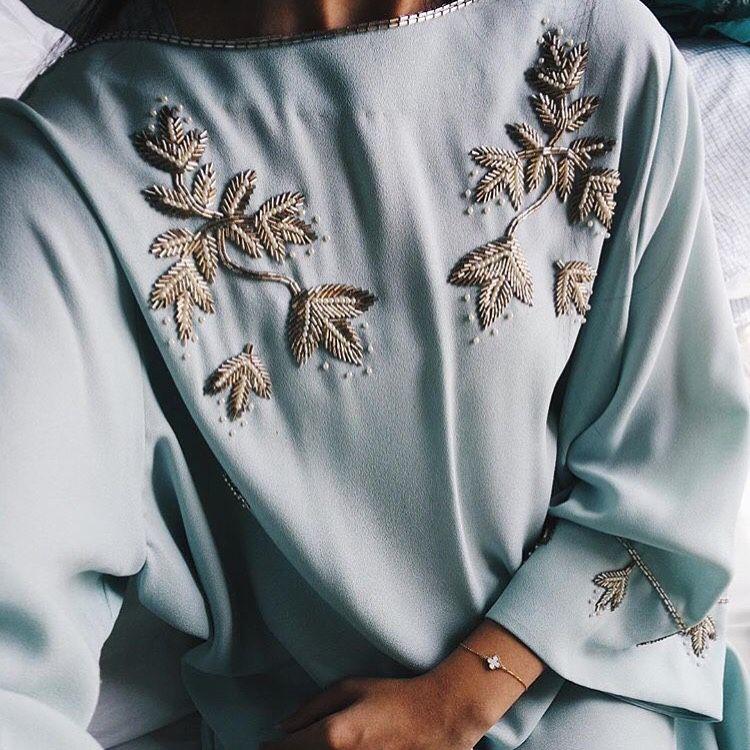 Pin By 𝓻𝓮𝔂 On Outfits Fashion Embroidery Fashion Abaya Fashion