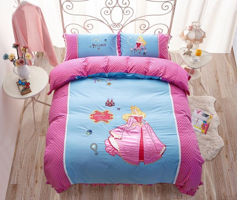 Sleeping Beauty Princess Aurora, Disney Princess Queen Bed Set