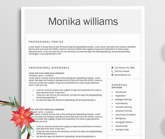 Resume/Professional resume template word / Modern Resume template +