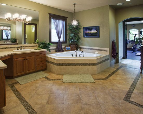 Awesome Mediterranean Style Home Interior Designs Cozy Bathroom