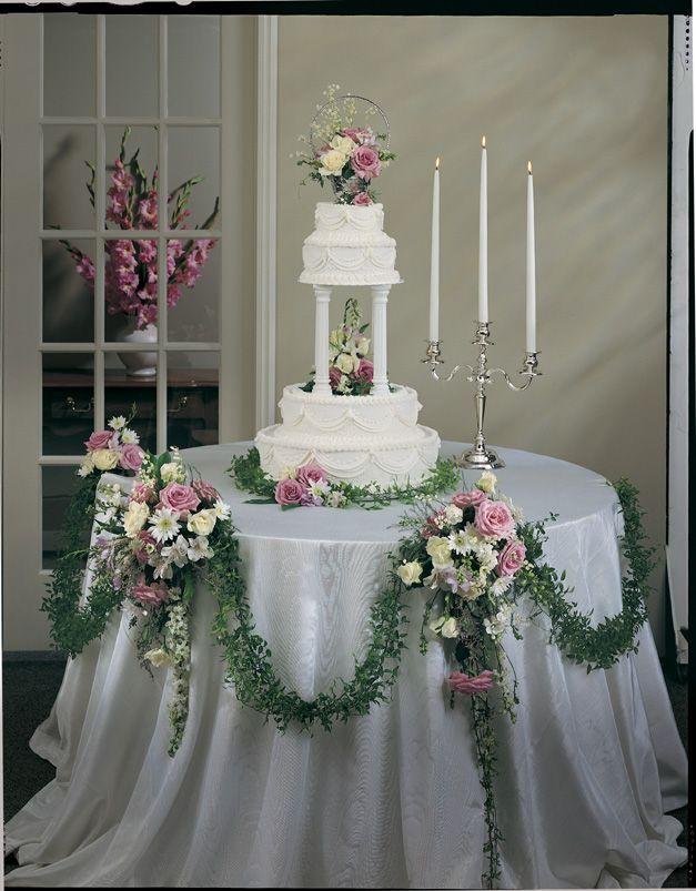 Terry S Floral Treasures Weddings Wedding Cake Table Decorations Cake Table Decorations Wedding Cake Table