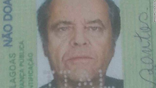 You don't know Jack! Brazilian cops bust man using fake Nicholson ID