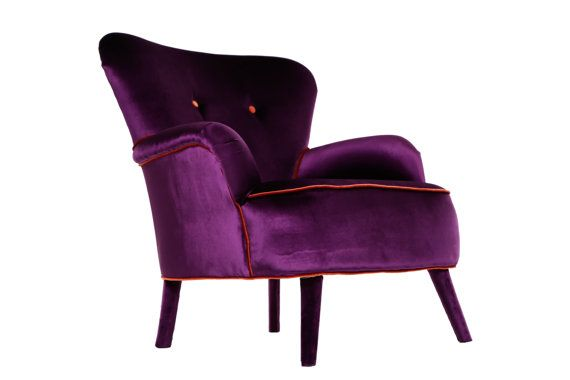 Great Deep Purple Armchair By Namedesignstudio On Etsy