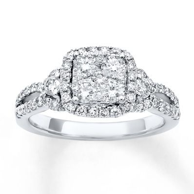 HE WENT TO JARED YESS Diamond Engagement Ring 115 ct tw