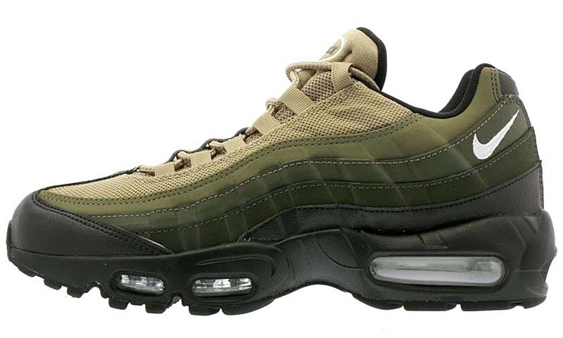 brand new 74564 c2493 NIKE AIR MAX 95 ESSENTIAL  BLACK   WHITE   SEQUOIA   CARGO KHAKI  749766
