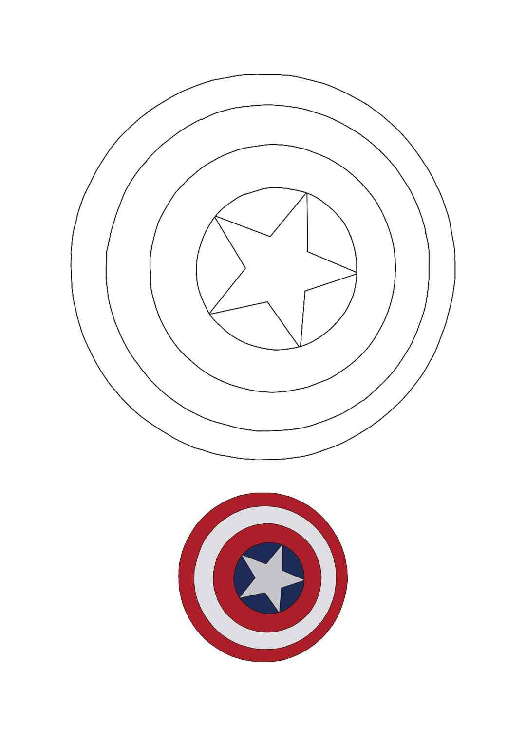 Captain America Shield Coloring Pages In 2020 Captain America Shield Captain America Coloring Pages