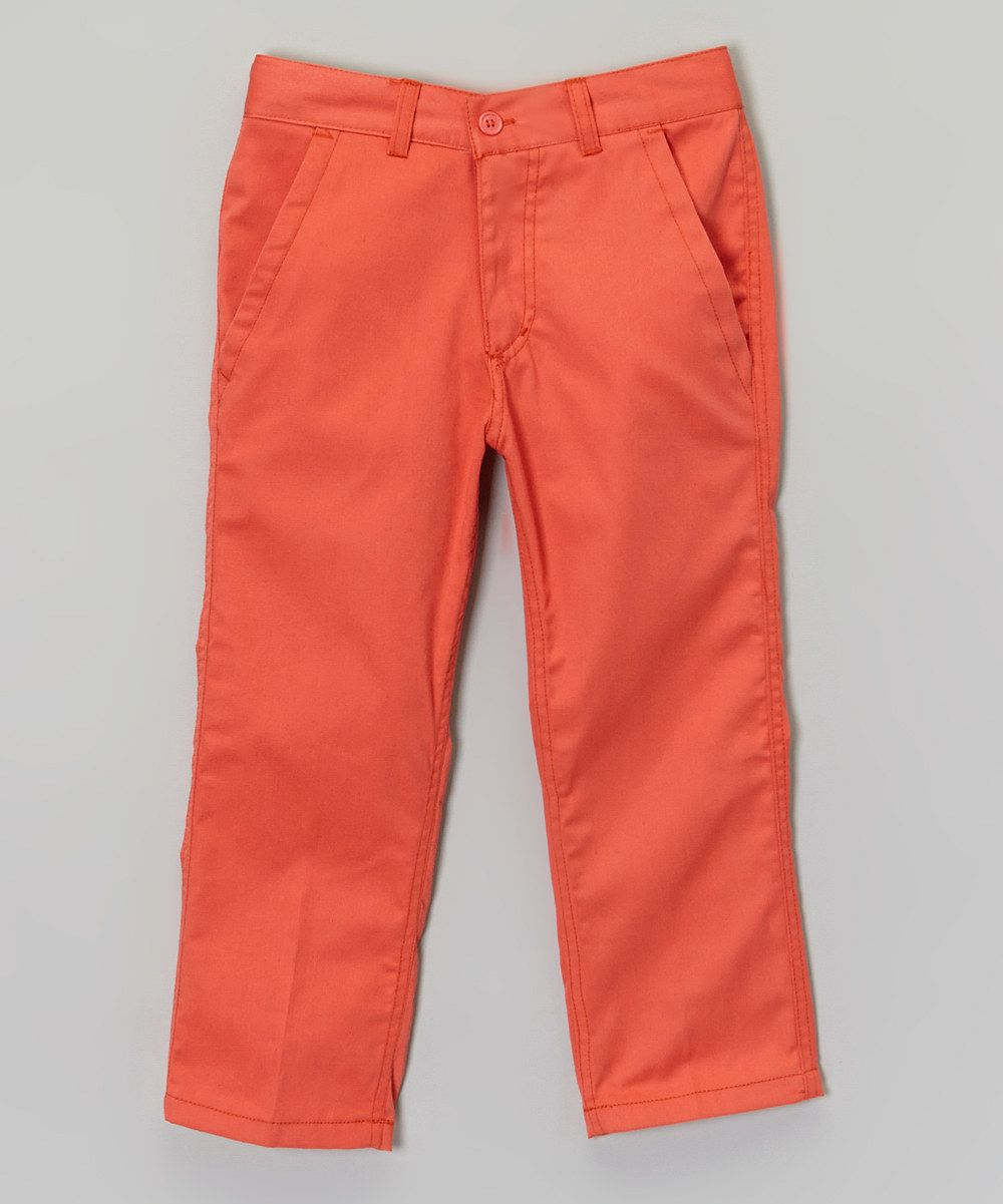 Look at this Galaxy by Harvic Salmon Chino Pants - Boys on #zulily today!