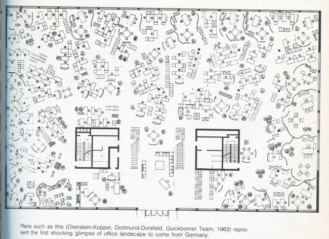 Office Landscape Quickborner Team Late 60 S 70 S Gallery Archinect Architecture Drawings Site Plans Plan Drawing