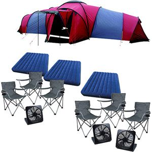 Ozark Trail Tundra Plus 9-person 3 Room Dome Tent Big Bundle  sc 1 st  Pinterest : ozark trail 3 room dome tent - memphite.com