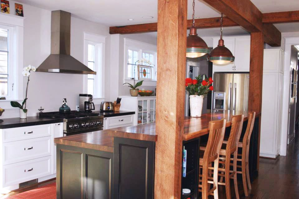 Custom Walnut Wood Countertops In Chevy Chase Maryland Wood