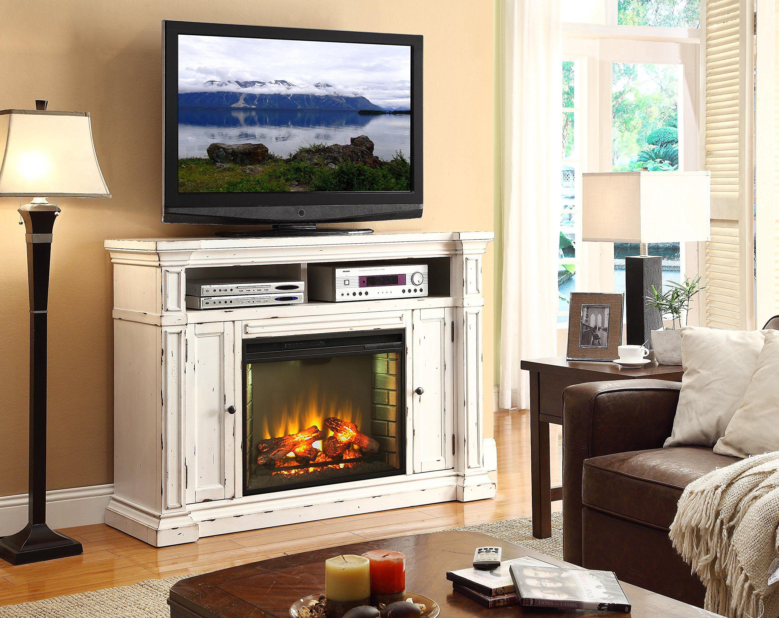 "legends furniture new castle znca-1900 58"" fireplace media center"