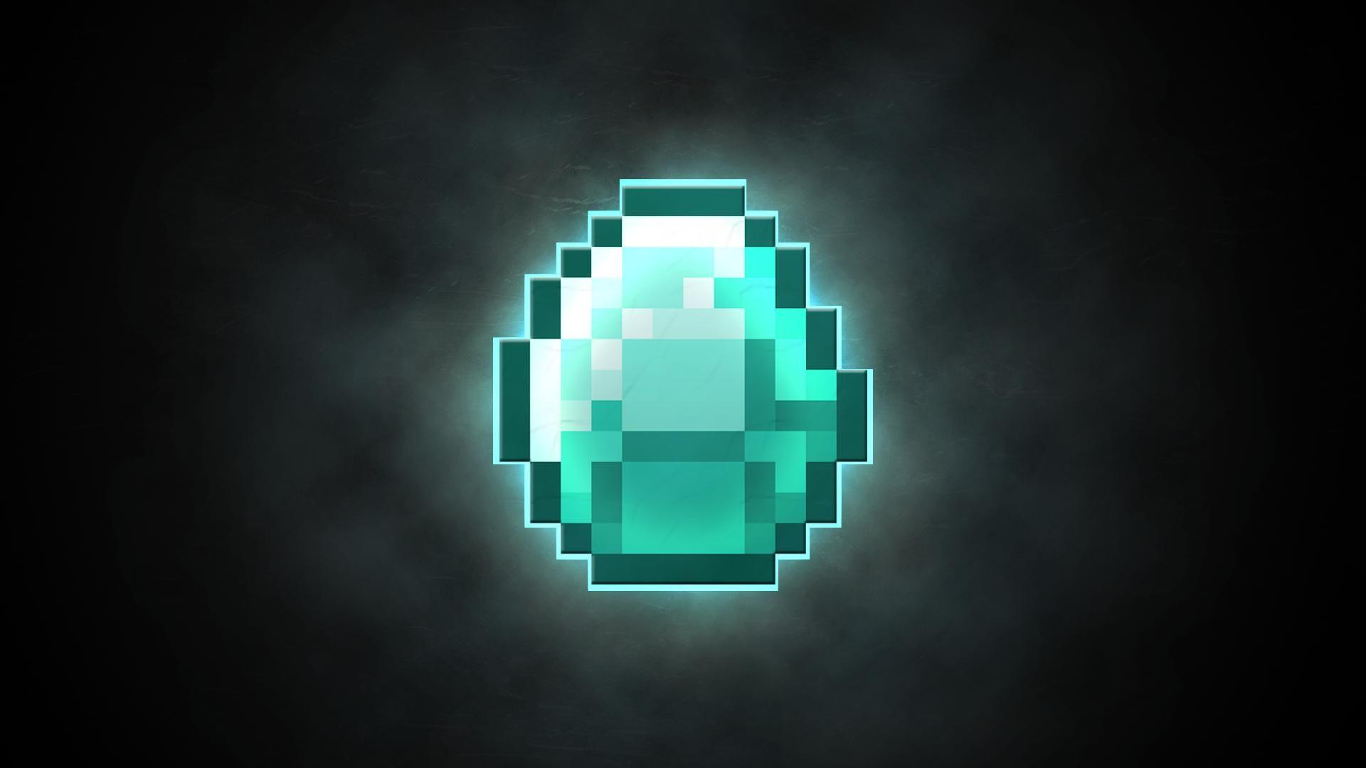 Minecraft Diamond Wallpaper 배경화면 손글씨 마인크래프트