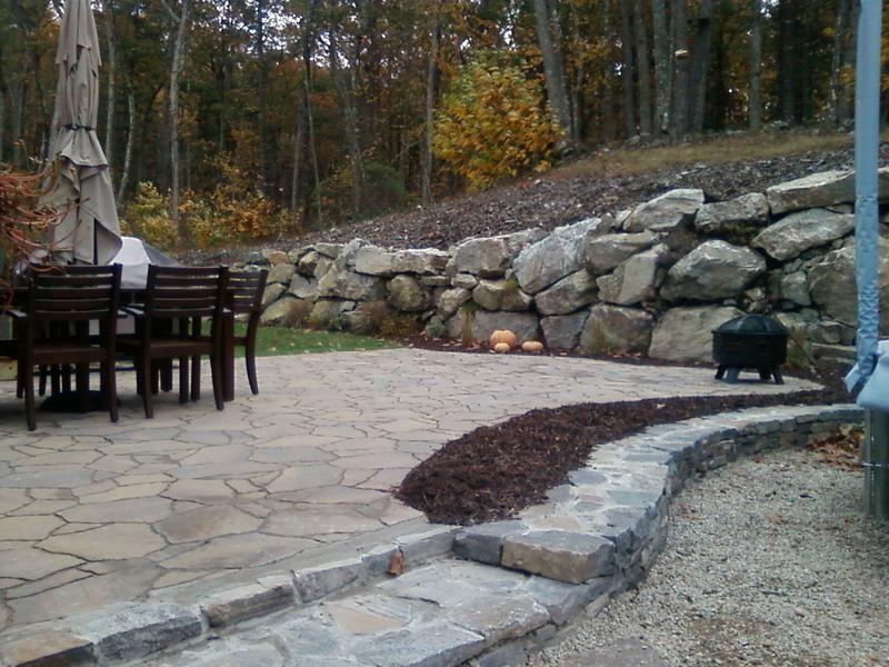 Belgard Paver Patio W Corinthian Granite Wall Steps Stone Masonry Belgard Pavers Stone Veneer