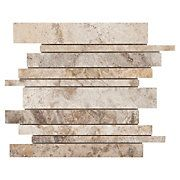 Camila Polished Stick Travertine Mosaic