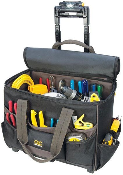 Clc Techgear Roller Tool Bag With Led