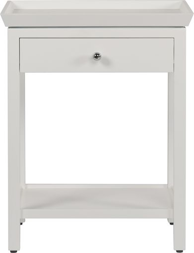 Neptune Aldwych Tall Side Lamp Table, Snow | Living