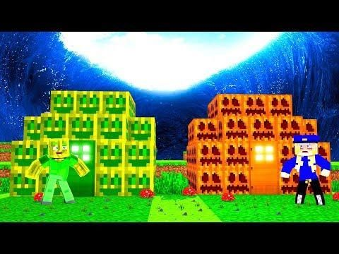 Melonen Haus Vs Kürbis Haus Minecraft Tsunami Top Video