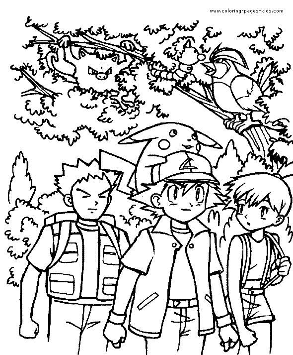 coloring sheets pokemonkleurplaten ash pickachu en vrienden httpwww pokemon kleurplaat