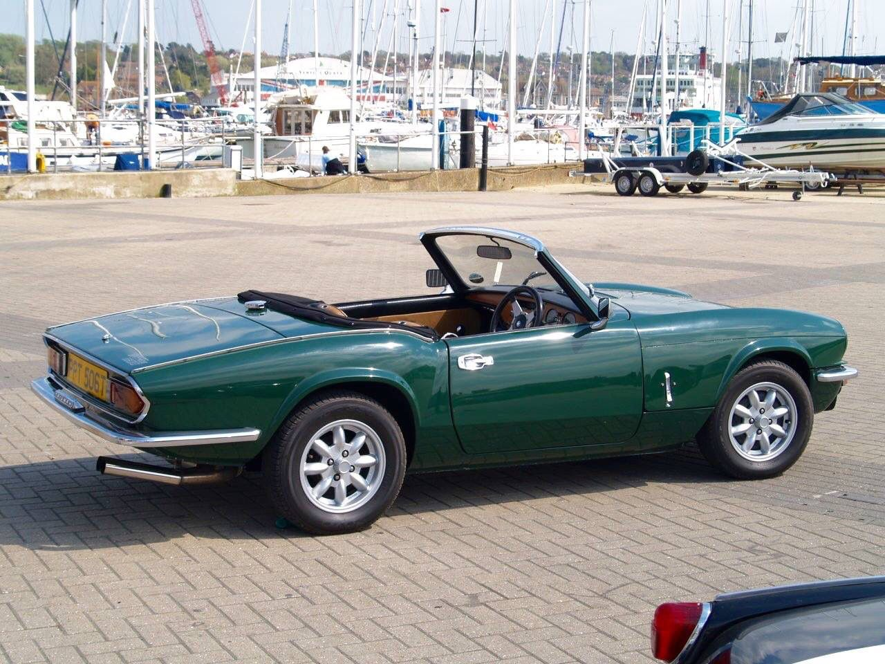 Triumph Spitfire BRG 1978 1500 Looking Fabulous on the Isle of Wight. www.tssc.org.uk. My first brand new car. I bought it the day before came to California in June of 1978.