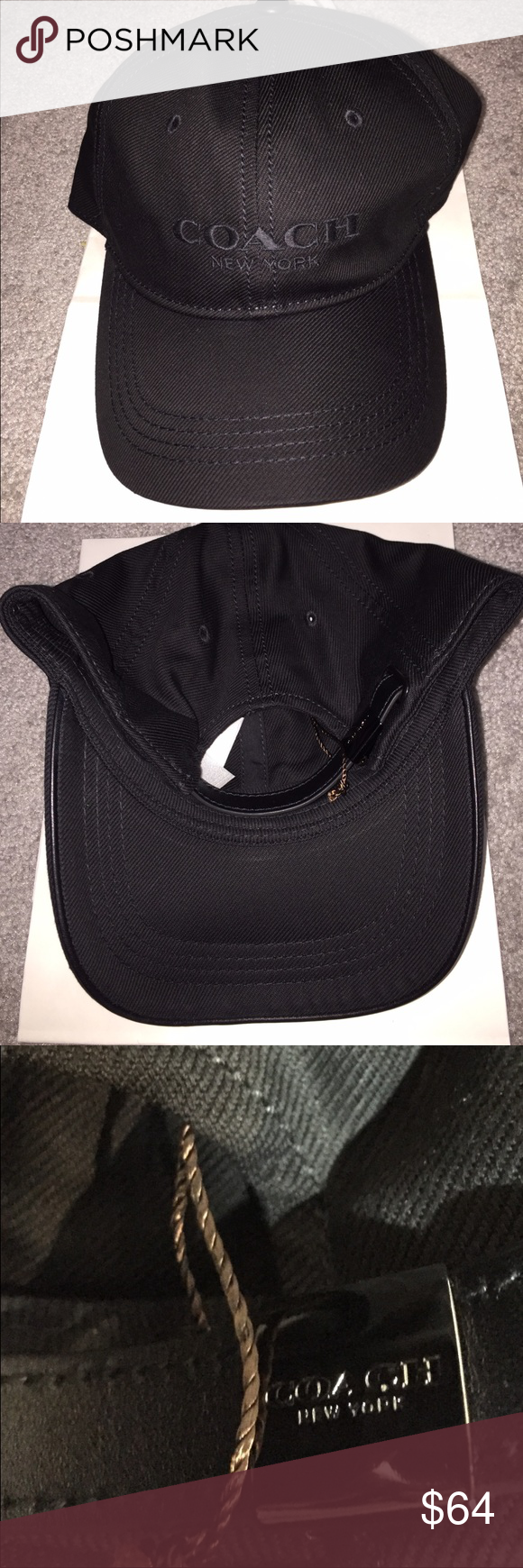 COACH LOGO BBALL HAT BLACK NWT COACH LOGO BBALL HAT BLACK NWT. NO TRADES. MSRP $75.00.  🔴PRICES NOT DISCUSSED IN COMMENTS. Coach Accessories Hats
