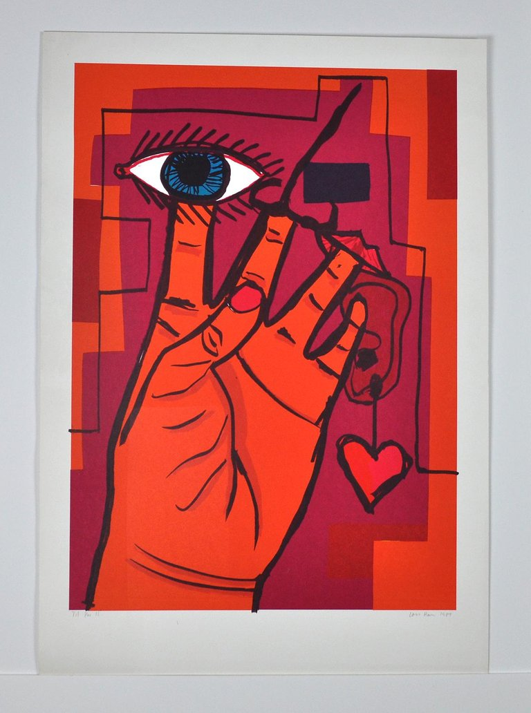Lars Ravn, Serigraphy by Lars Ravn, Untitled, 1987, 1987