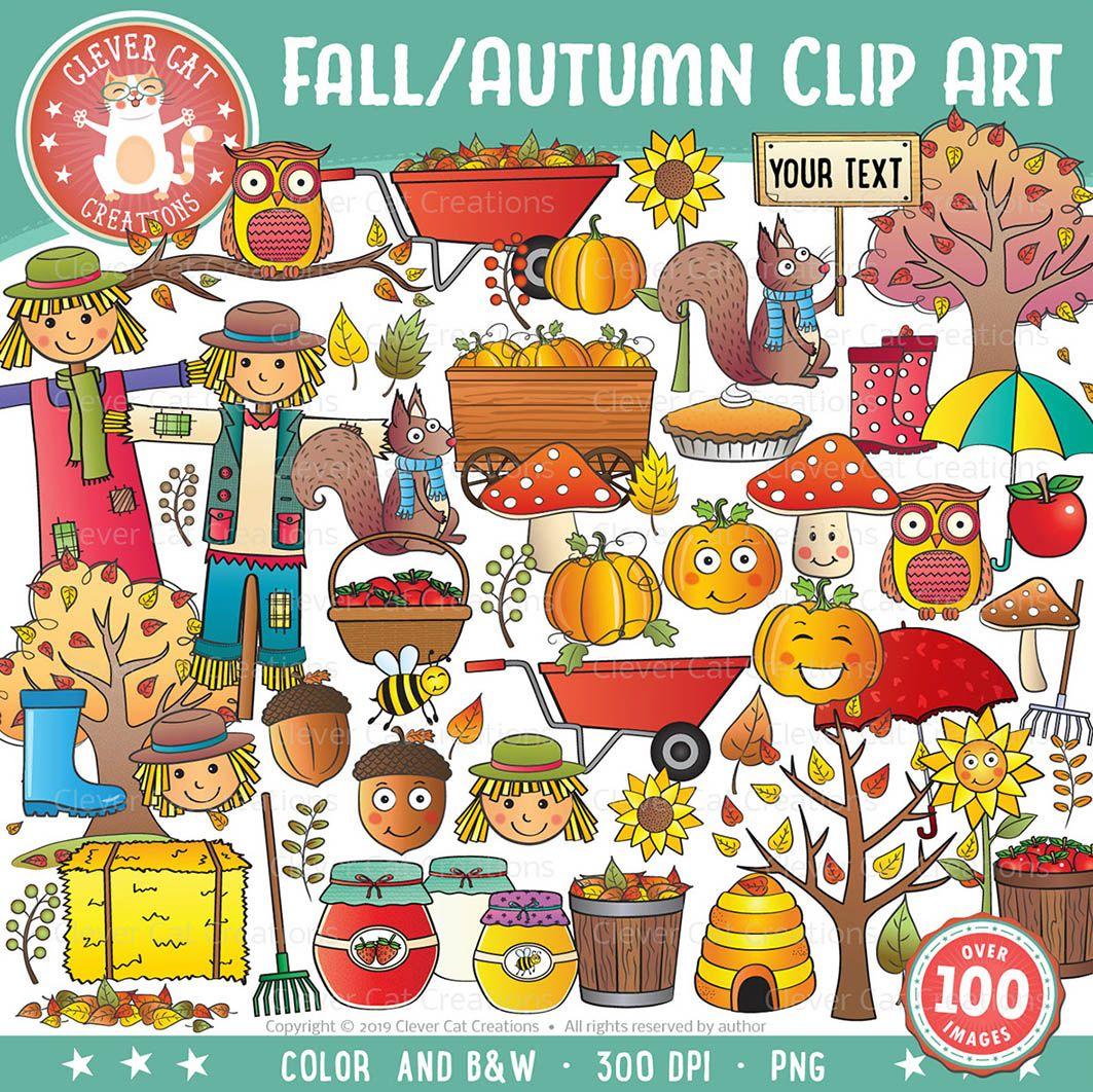 Fall / Autumn Clip Art | Clip art, Fall clip art ...