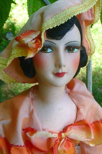 Beautiful French boudoir doll close up