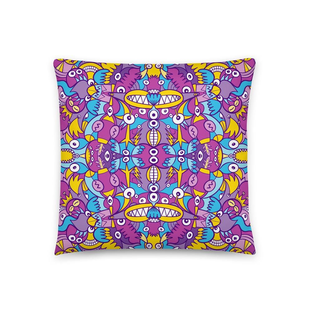 Doodle compulsion is out of control Basic Pillow - 18×18