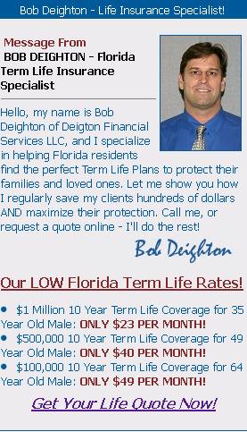 Amazing Term Life Insurance Quotes In Florida Term Life