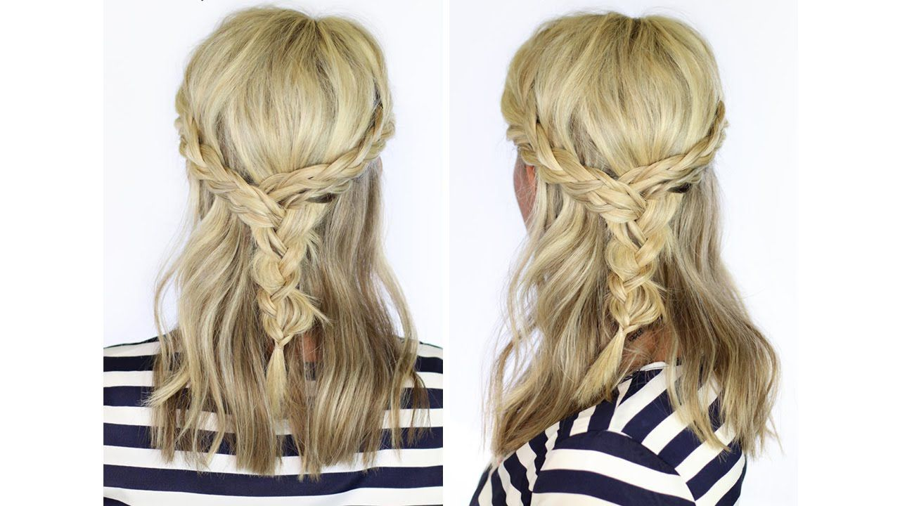 Beautiful braid for medium length hair my style pinterest