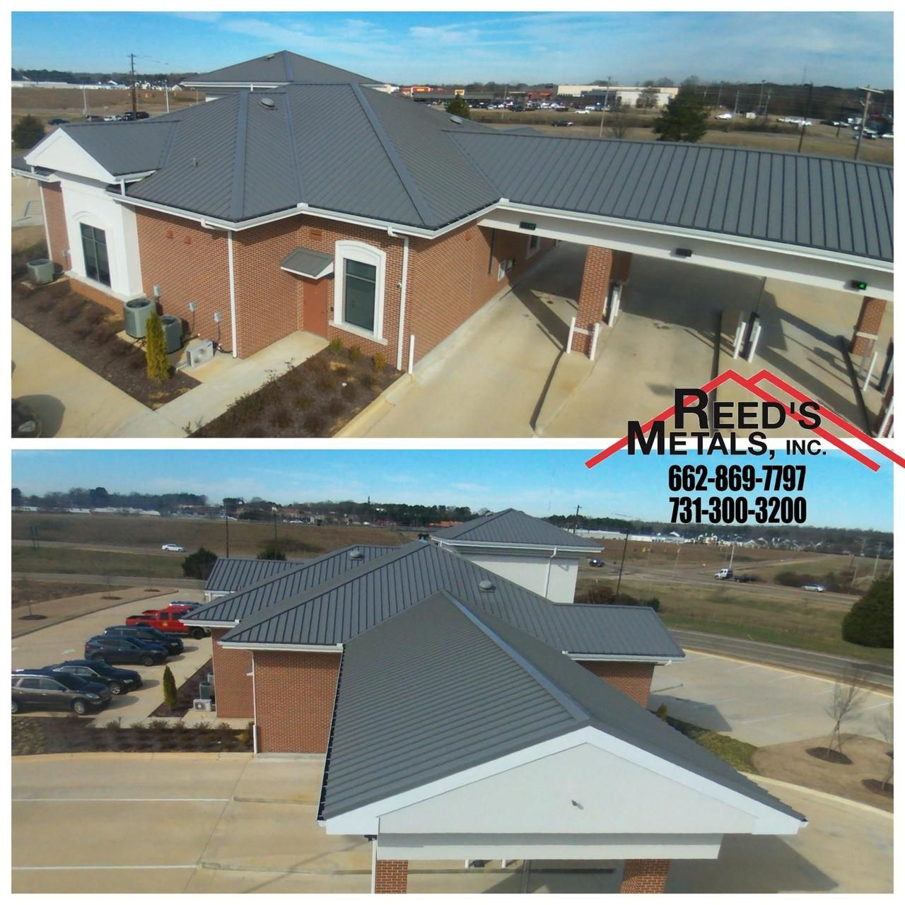 Best This Charcoal Gray Commercial Metal Roof Looks Great And 400 x 300