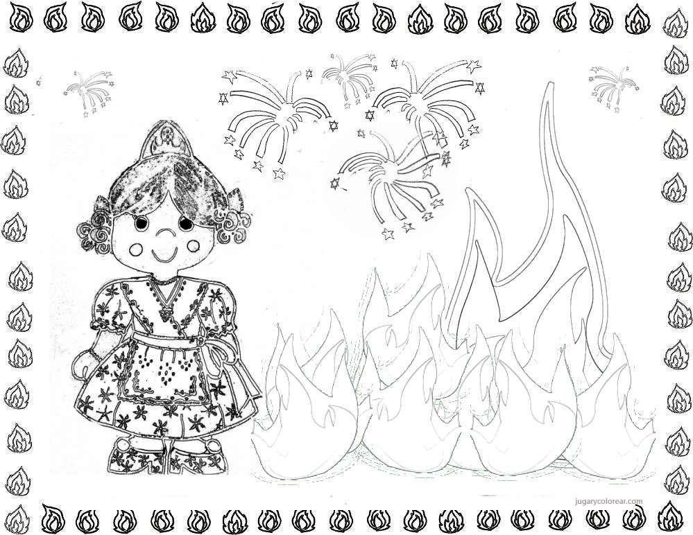 Resultado De Imagen De Falleras Para Pintar Con Imagenes Dibujos Te Falle Imagenes De Dibujos