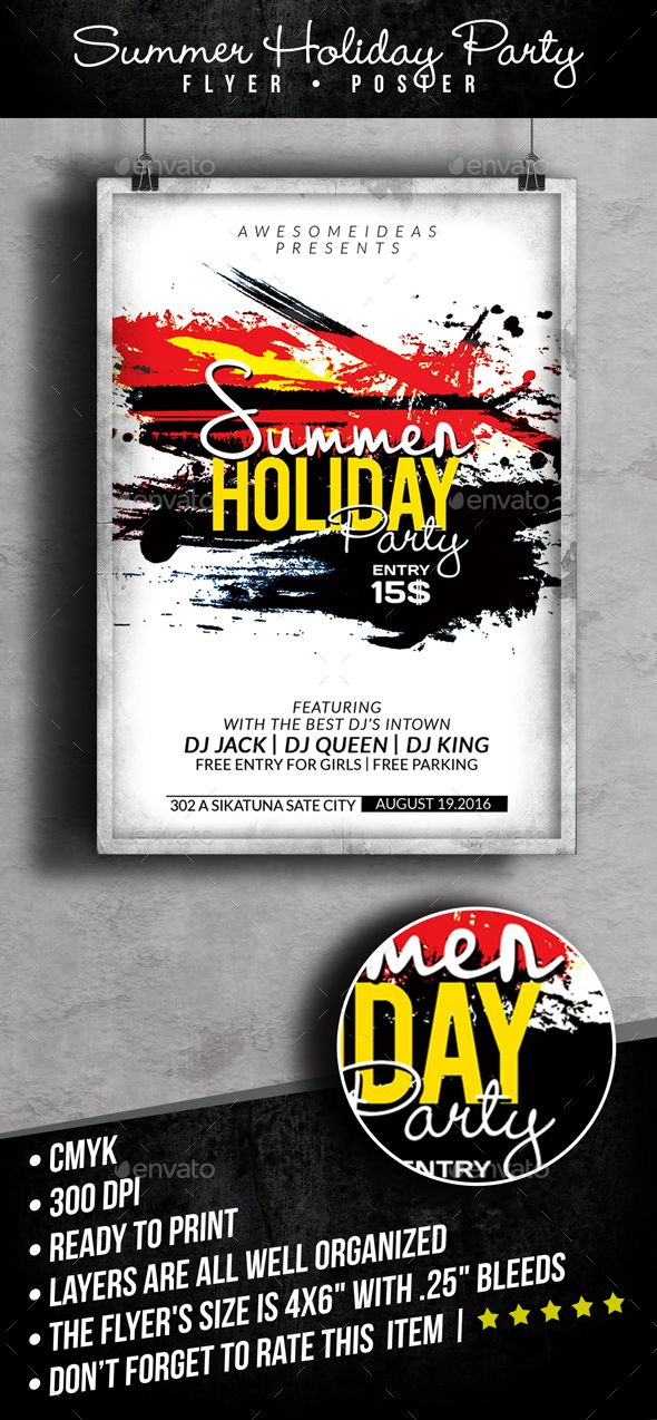 Summer Holiday Party Flyer Template Template And Party Flyer