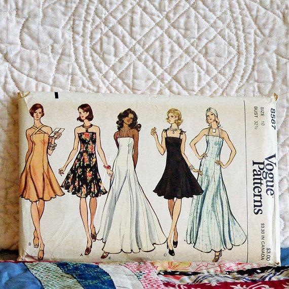 8567-vogue-pattern-1970s-women-dress #fallintofashion14 #mccallpatterncompany