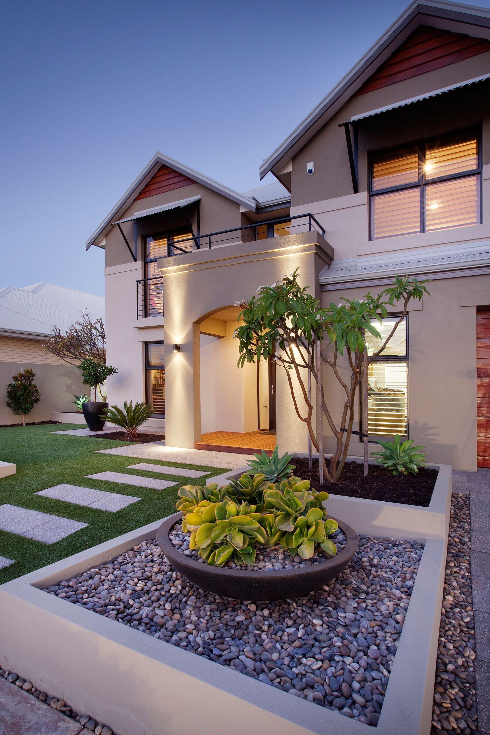 38 Eye Catching Landscaping Ideas Home Awakening Modern Front Yard Yard Design Front Yard Design House front yard landscaping ideas