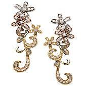 Diamond Earrings, Tri Tone Diamond Flower Earrings (3/4 ct. t.w.)