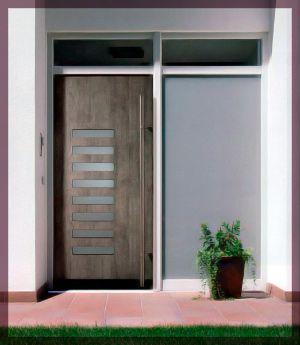 Espl ndida puerta de aluminio de exterior puertas de for Puertas de entrada principal minimalistas