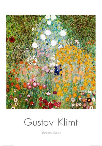 Flower Garden Print By Gustav Klimt At Art Com Tree Painting Canvas Klimt Art Framed Art Prints