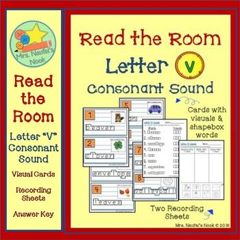 Letter V Consonant Sound Read the Room