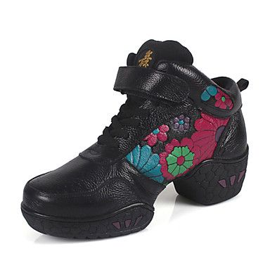 76 15 Women S Leather Dance Shoes For Ballroom Sneakers More Colors Sneakers Leather Women Dance Shoes