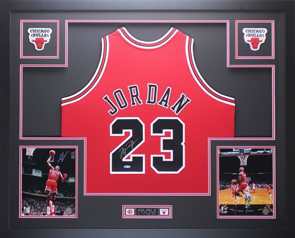 Michael Jordan Autographed & Framed Red Bulls Jersey Auto