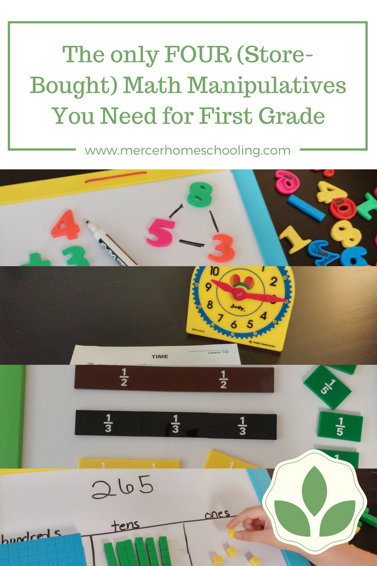 The Ly FOUR Math Manipulatives You Need For First Grade