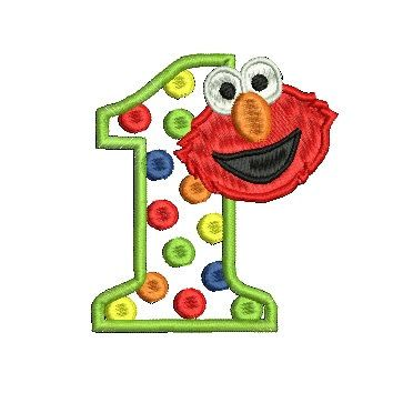 Elmo Embroidery Design Applique Embroidery by MyIttyBittyDesigns