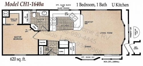 Image result for two bedroom single wide mobile home plans – Small Manufactured Homes Floor Plans