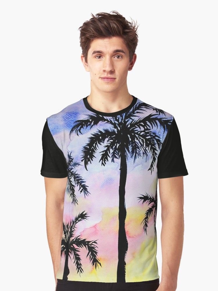 Summer Beach Palm Trees Graphic T Shirt In 2019 Cool T Shirts