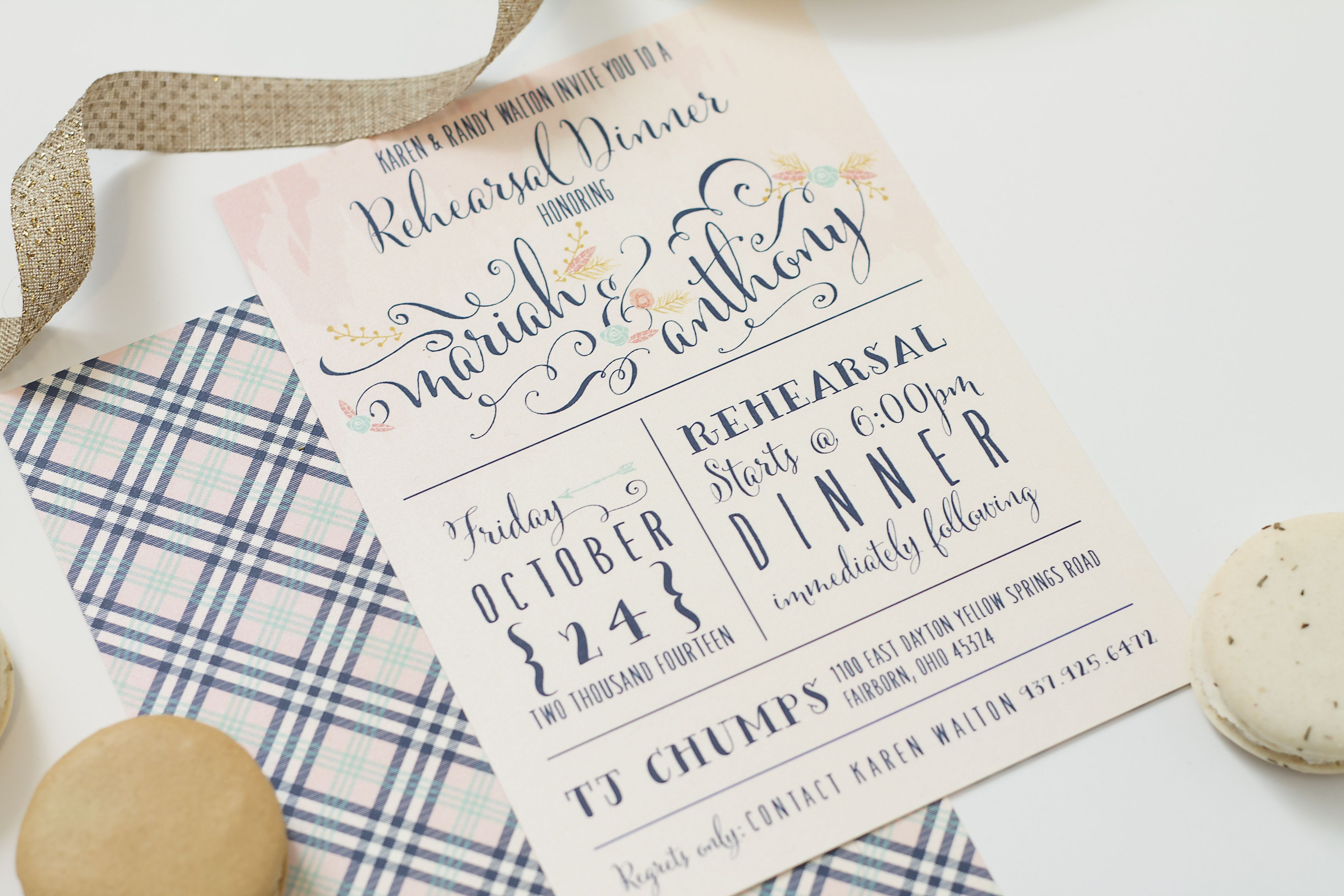 Rustic Chic Antler Deer Invitation Watercolor Style With Flourishes