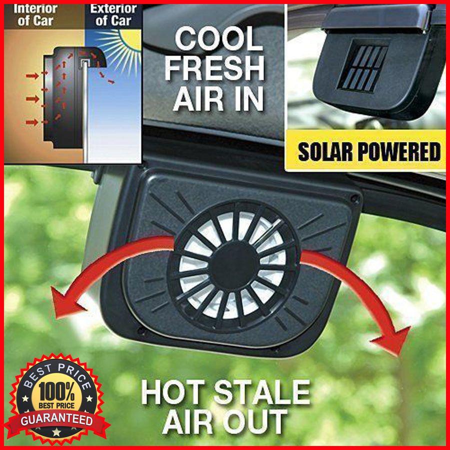 Autocool Solar Car Window Fan Auto Ventilator Cooler Air Vent Fan