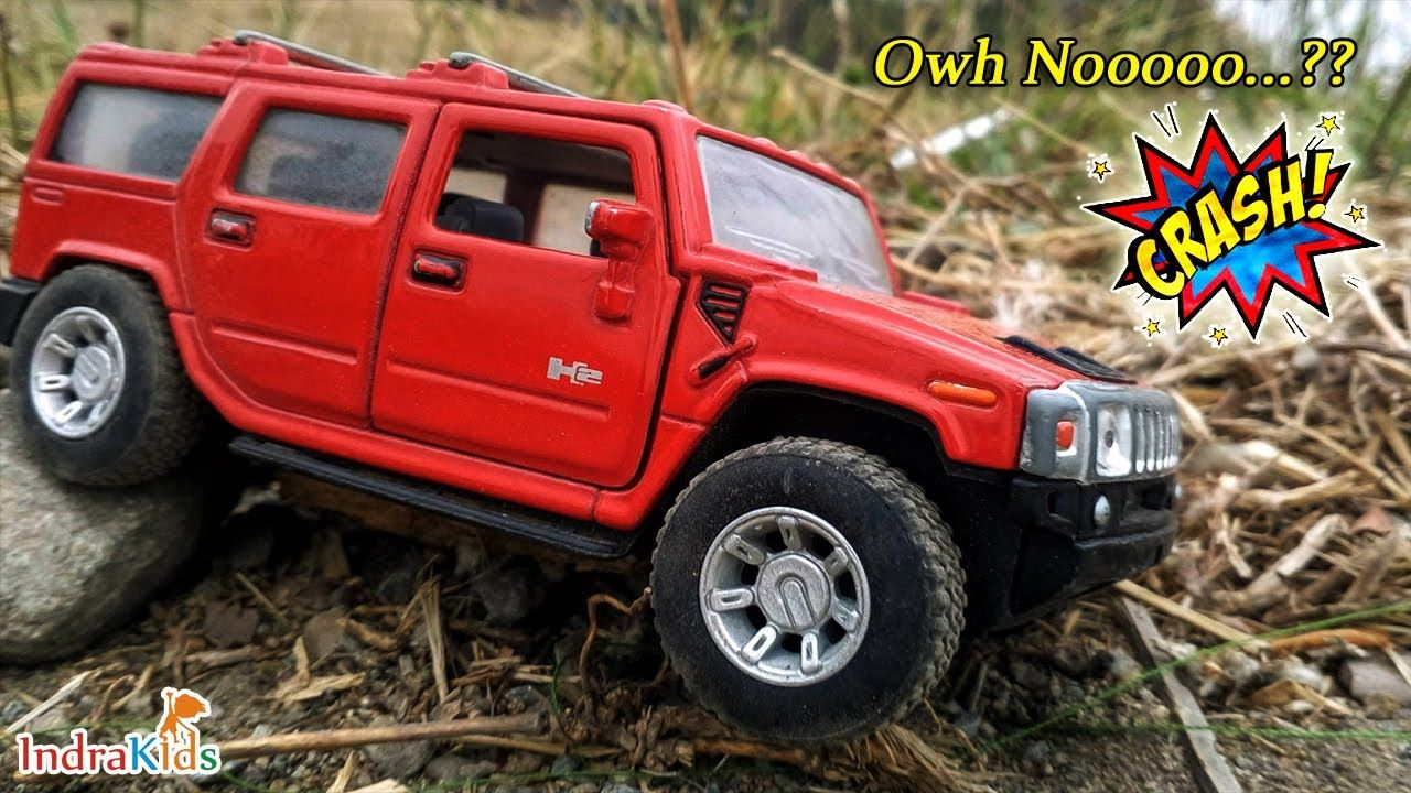 Funny Video Babys Playing Offroad Cars In Rice Fields Hummer H2 Red Di