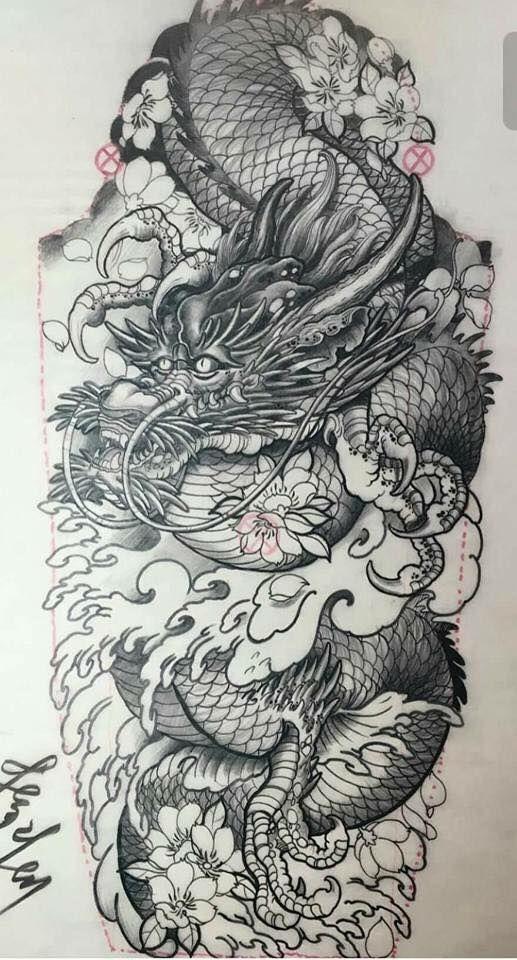 Tatuagem de drag o tattos tatuagem japonesas de for Vater japones